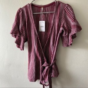 NWT Free People Wrap Blouse